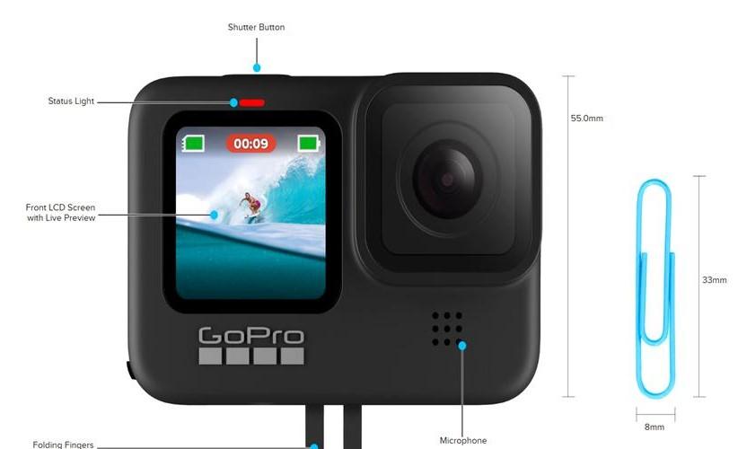 GoPro Hero 9 Black camera video actiune webcam 5k