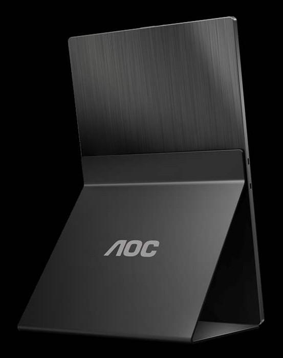 fotografie AOC 16T2 monitor portabil aluminium usb c hdmi ecran tactil
