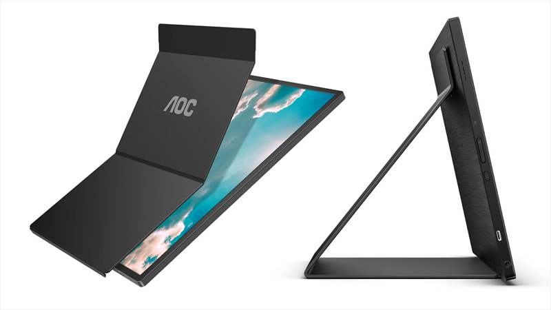 AOC 16T2 monitor ecran IPS touchscreen husa montare perete