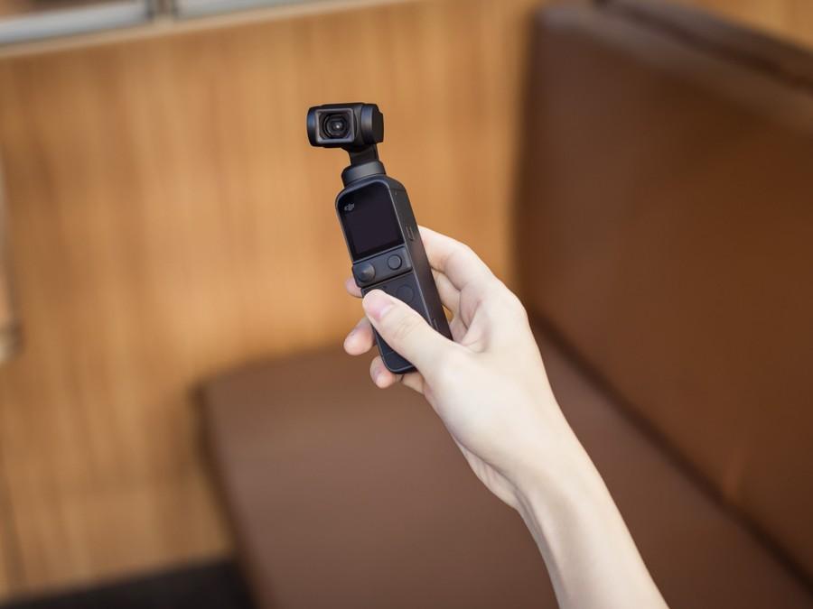 DJI Pocket 2 selfie mode camera foto video gimbal 3 axe vlloger