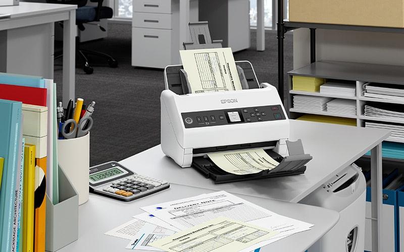 poza scaner epson digitalizare documente colum mare