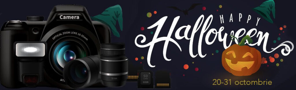 promotii aparate foto accesorii halloween