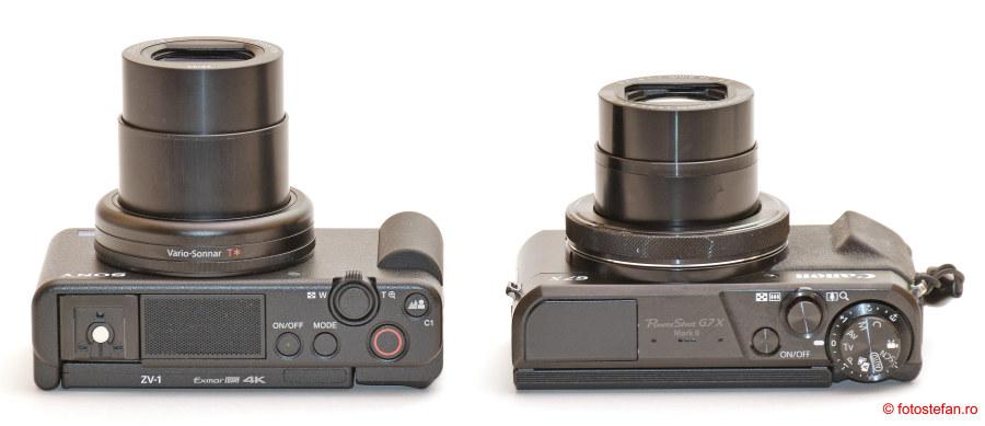 Sony ZV-1 vs Canon G7 X Mark II test aparate foto compacte