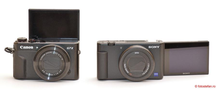 ecran lcd rabatabil mobil aparat foto compact sony canon