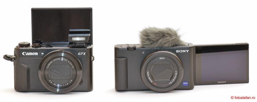 Sony ZV-1 vs Canon G7 X Mark II poza aparate foto compacte