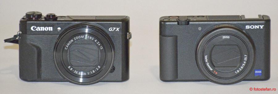 constuctie aparat foto compact test Sony ZV-1 vs Canon G7 X Mark II