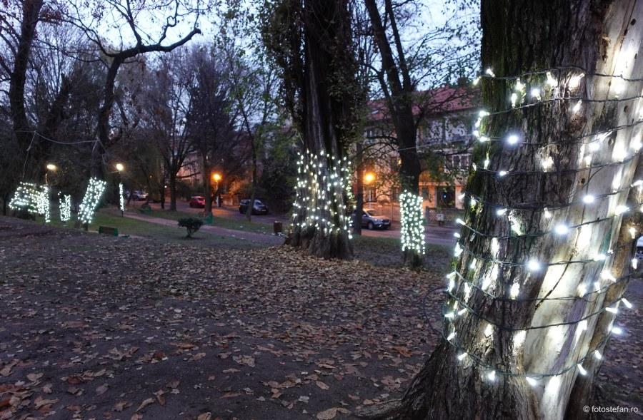 fotografii beculete sarbatori iarna parc romniceanu bucuresti poze