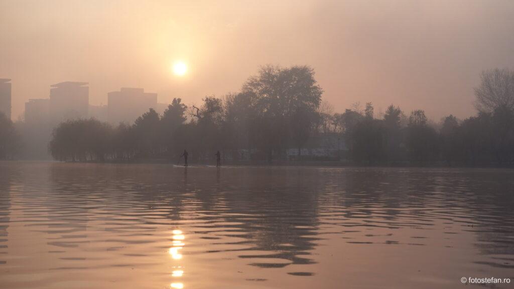 Sony ZV-1 vs Canon G7 X Mark II sunset fog lake winter