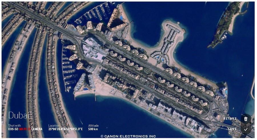 dubai fotografii din satelit Canon CE-SAT-1