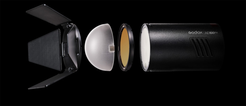 accesorii blit extern monobloc compact usor puternic sedinta foto
