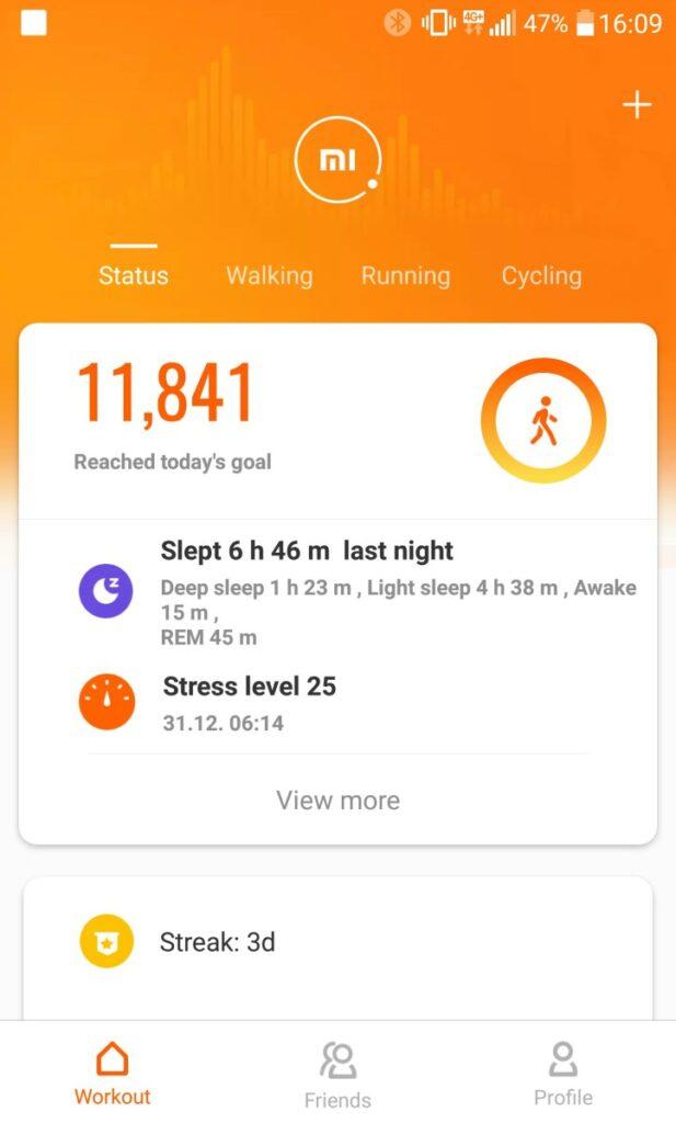poza aplicatia mi fit bratara fitness smart