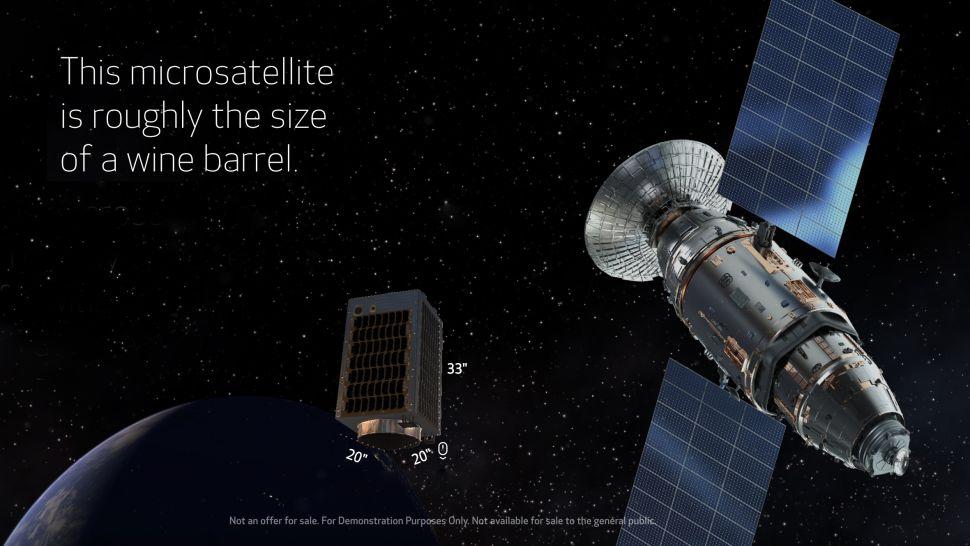 dimensiuni satelit Canon CE-SAT-1