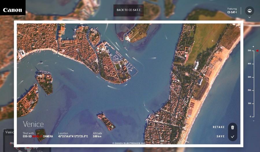 venetia fotografie din satelitul Canon CE-SAT-1
