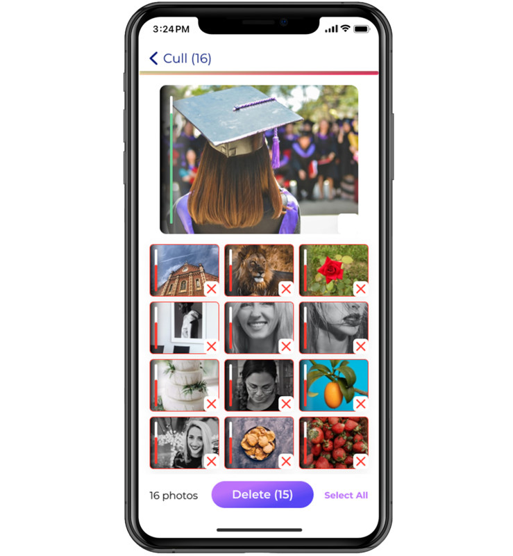 aplicatie selectie poze galeria foto iphone