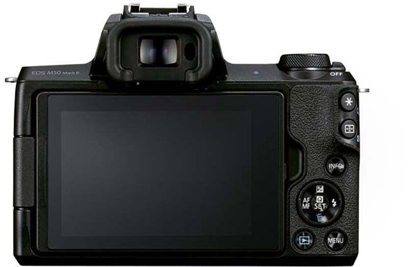 Canon EOS M50 Mark II ecran butoane vizor mirrorless tik tok instagram youtube