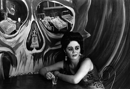 fotografie alb negru monocrom mexic fata mexicana