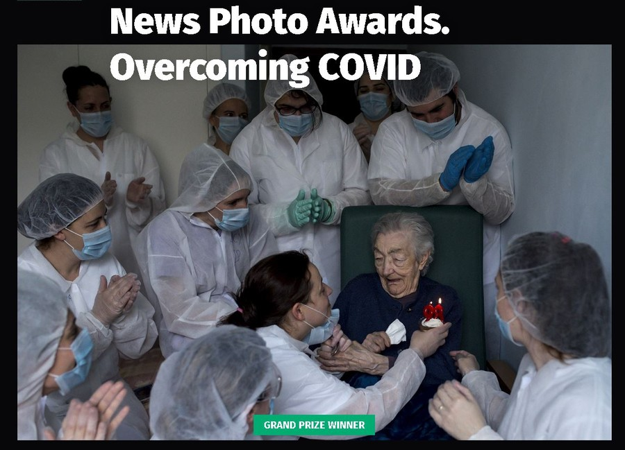 winners of the News Photo Awards. Overcoming COVID photo contest