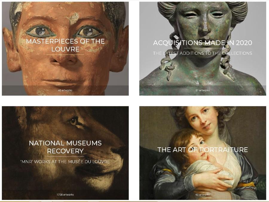 Muzeul Luvru colectia de arta gratuit online