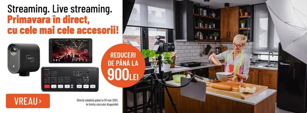 accesorii echipmanete live streaming reduceri discount