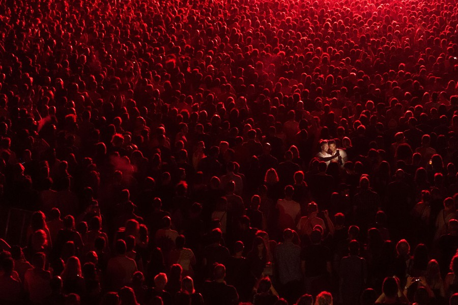 poza cuplu selfie concert Jelena Jankovic