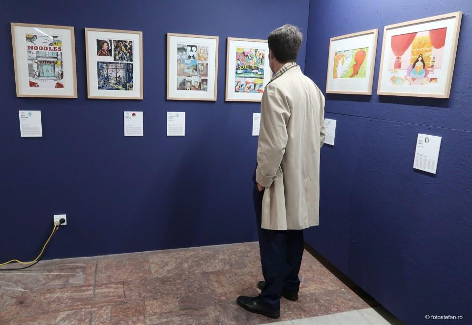 vernisaj expozitie benzi desenate spaniole modul carturesti bucuresti