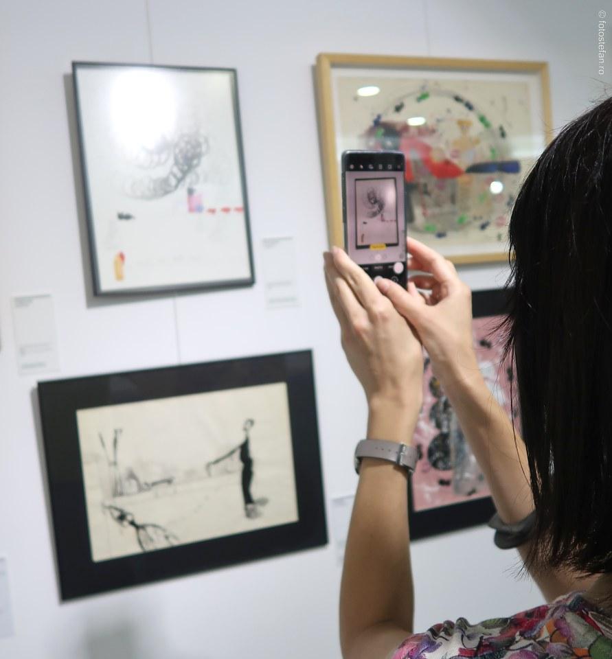 fotografiere telefon mobil tablou ecaterina vrana muzeul nicola minovici