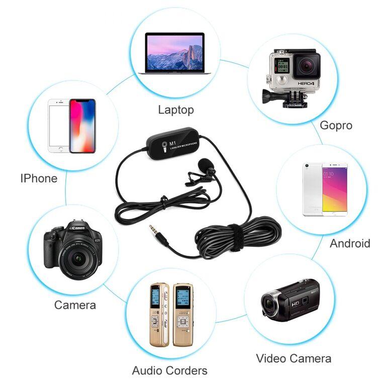 microfon lavaliera aparat foto dslr smartphone camera video